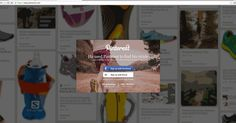 """Pinterest landing page.  Background is slowly scrolling down, you can't see that effect from this low quality gif though,, was really nice.  Sign up part is also great. """"45 seconds"""", """"25+ Billion"""", feels easy yet useful."""