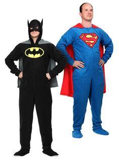 ThinkGeek :: Superhero Footie Union Suit