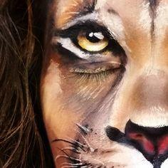 Amazing lion facepaint