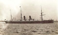 Screw Steamer AURANIA built by James & George Thomson in 1883 for Cunard Steamship Co. Ltd., Liverpool, Passenger