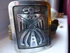 Hopi Sterling Silver Pendant  Signed MML  by ChicAvantGarde
