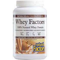Natural Factors  Whey Factors 100 Natural Whey Protein Double Chocolate 45 Servings 2 lbs * ** AMAZON BEST BUY -affiliate link** #ProteinDrinks