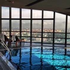 A Pool with a view, Corinthia Hotel Prague