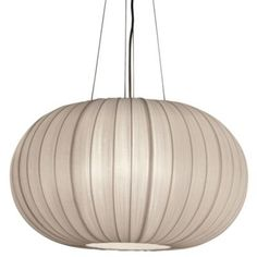 "Shanghai Oval Pendant by Trend Lighting Fixture: Height 16"", Diameter 27"" Suspension: Length Adjustable To 80"" Canopy: Diameter 7.5"" $450"