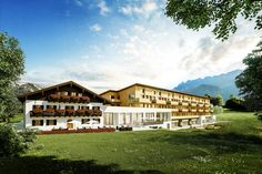 Contemporary design and unusual architecture for demanding travellers. Premium Hotel, Alpine Style, Winter Hiking, Workout Rooms, Cool Rooms, Warm Colors, Resort Spa, Outdoor Pool, The Expanse