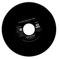 "Rose Valentine - I've Gotta Know Right Now / Susan Barrett 7"" Vinyl"