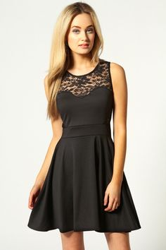 This kind of skater dress would look great with a soft grey or white cardigan and a pair of sneakers  Skater Dress cute #casualoutfit #kelly751  #SkaterDress #Skater #Dress #topdress www.2dayslook.com