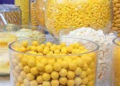 yellow candy buffets