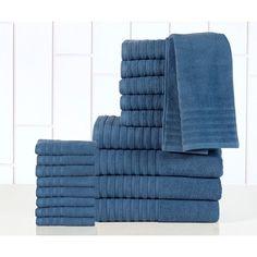 Casa Platino Luxurious Cotton 600 GSM 18-piece Towel Set
