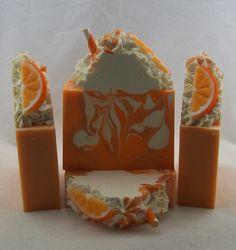 Tangelo & Cream, Orange Creamsicle Handmade Soap, Angelminks Soap, Handmade Luxury Artisan Soap, Vegan Soap, Cold Process Soap by Angelminks on Etsy