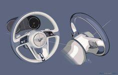 Bentley Bentayga steering wheel rendering
