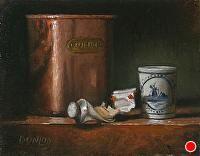 """Pondering the Master"" by Bobbi Dunlop Oil ~ 6 x 7.75"