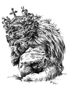 Czech lion by Vomajda on DeviantArt Czech Tattoo, Feather Tattoos, Lion Tattoo, Ex Libris, Symbolic Tattoos, Statues, Lion Sculpture, Symbols, Ink