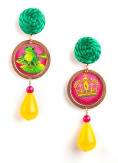 Bosco earrings...there is more behind the kiss of a frog...  http://bit.ly/1jcJ0Bn