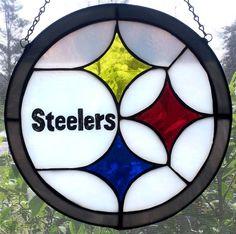 NFL Clocks & Suncatchers  Steelers Ravens by LJCDesignStudios, $55.00
