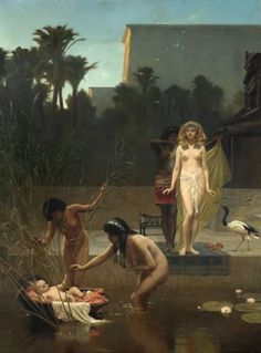 The Finding of Moses, Frederick Goodall (1822–1904) Mackelvie Trust Collection, Auckland Art Gallery Toi o Tāmaki.