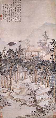 """""""Living Aloft: Master Liu's Retreat"""" (1543) by Wen Zhengming"""