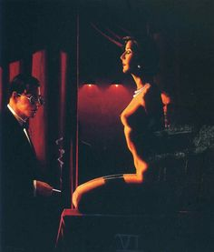 D.W.C. The Woman in Black - Painter Jack Vettriano
