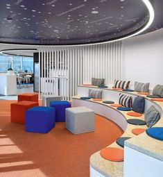 Agoria Tech Lounge Offices Brussels 2 - Lounge Seating - Ideas of Lounge Seating Tiered Seating, Soft Seating, Lounge Seating, Interior Design Photos, Office Interior Design, Office Interiors, Home Office, Office Decor, Student Lounge
