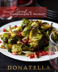 I love this side dish recipe for Fall, but especially for Thanksgiving! Brussel sprouts, pomegranate, and walnuts are the perfect compliment to a big, juicy turkey!
