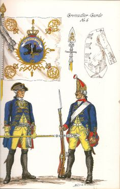 The Army of Frederick The Great of Prussia 1750. Infantry Regiment No.6