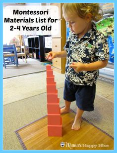 This is a list of Montessori Materials for 2-4 years old. This is a 8 part series for incorporating Montessori education into your home.