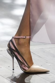 So pretty! Christian Dior Spring/Summer 2014 #heels #women's #shoes