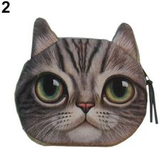 Luggage & Bags Coin Purses & Holders Intelligent New Womens Cute Cat Face Zipper Case Coin Money Purse Female Children Wallet Makeup Buggy Bag Pouch