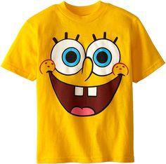 Amazon.com: Bob Esponja Boys 'playera, 7, Rostro amarillo: Clothing Spongebob Birthday Party, Boy Birthday, Birthday Ideas, Spongebob Shirt, Kids Outfits, Cute Outfits, Cartoon Outfits, Nickelodeon, Big Face