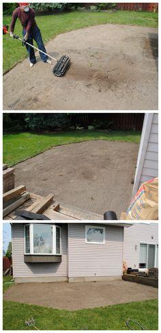 Outdoor Patio Flooring Pea Gravel Ideas For 2019 Backyard Playground, Fire Pit Backyard, Backyard Patio, Wedding Backyard, Garden Wedding, Pea Gravel Patio, Concrete Patio, Clean Concrete, Gravel Garden