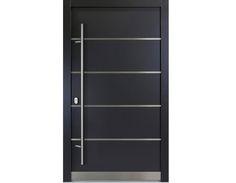 haustüren aluminium | Aluminium Haustür weiß anthrazitgrau Modell Carlo verschied. Maße ...