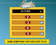 family feud - powerpoint template download; best one i could find, Modern powerpoint