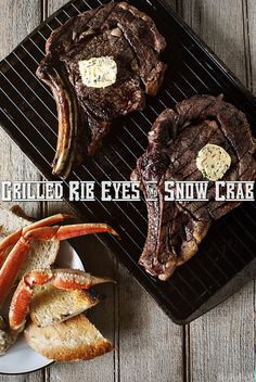 Grilled Rib Eyes & Snow Crab from Girl Carnivore