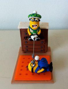 Polymer clay minion golfer! (Athina's creations)