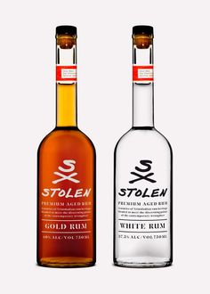 The name, brand concept, identity and packaging for Stolen Rum were designed by DDMMYY.