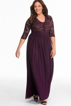 Shop plus size evening gowns for your upcoming wedding or event. Our Jasmine Lace Evening Gown makes Plus Size Evening Gown, Lace Evening Gowns, Plus Size Gowns, Plus Size Maxi Dresses, Plus Size Outfits, Formal Dresses, Gowns With Sleeves, Maxi Dress With Sleeves, Lace Maxi