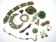 Vintage Rhinestone Jewelry Destash Craft Lot  by VintageInBloom, $40.00