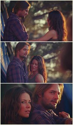 Lost, Josh Holloway, Evangeline Lilly. Sawyer and Kate