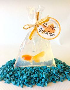 Pet Goldfish Soap  Carnival Party Favor  by squeakycleansoapco, $3.50