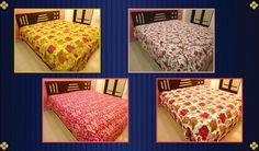 Indian #Printed #Kantha, Birdor Ikat #print #Bedcover, #Bedding & Bedsprad  @handicrunch.com