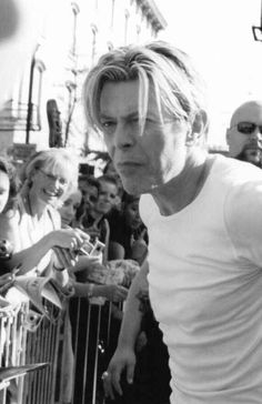 Isolar: T.W. Duke — bowieafter50:  Being adorable while signing stuff.