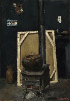 Paul Cézanne - The Stove in the Studio [c.1865]
