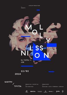 Poster for Molly Nilsson show in Thessaloniki