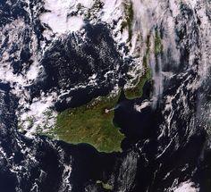 Sicily and Etna eruption