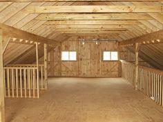Hay loft as home