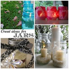 Lots of clever uses for upcycling jars!