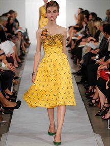 Oscar de la Renta dress: spring 2013