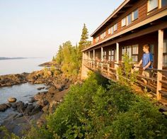 Michigan Wild Isle Royale National Park (Lake Superior). The only place to stay, such a great balcony view. Get us 2 kayaks and go.