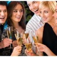 Photo about Portrait of six happy people holding glasses of champagne making a toast. Image of festivity, gathering, group - 3839837 Big Five Modell, House Party Outfit, Engagement Party Games, Engagement Ideas, Wedding Engagement, Black White Parties, Cocktails For Parties, Party Drinks, Holiday Parties