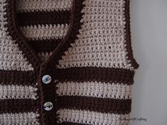 Free crochet patterns and DIY, crochet charts: Easy Toddler Vest